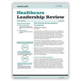 Healthcare Leadership Review
